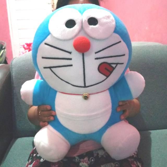 Boneka Doraemon 45 Cm Boneka Boneka Dora Emon Boneka Mainan Doraemon Souvenir Shopee Indonesia