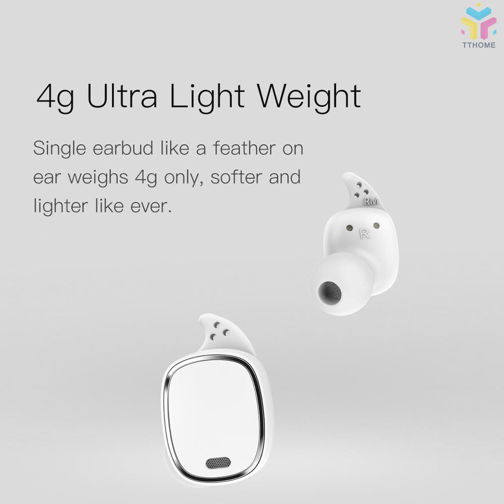 T&T Xiaomi QCY T1 Pro TWS BT Wireless Earphone Mini Sports Earbuds with Mic Wireless Headsets Touch