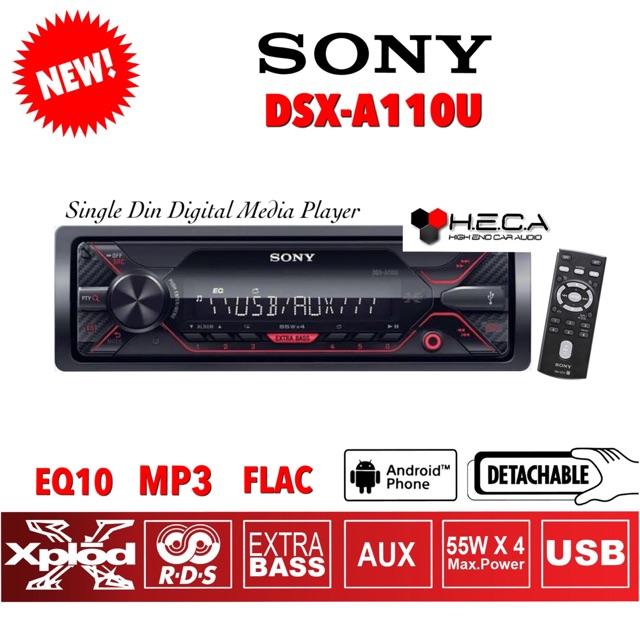 Sony Dsx A110u Single Din Dsxa110u Tape Mobil Audio Head Unit Dsx A110u Usb Radio Mp3 Flac Shopee Indonesia