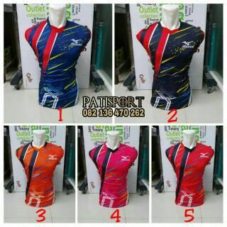 Singlet Mizuno Komet Baju Kaos Olahraga Jersey Bola Setelan Futsal / Volly