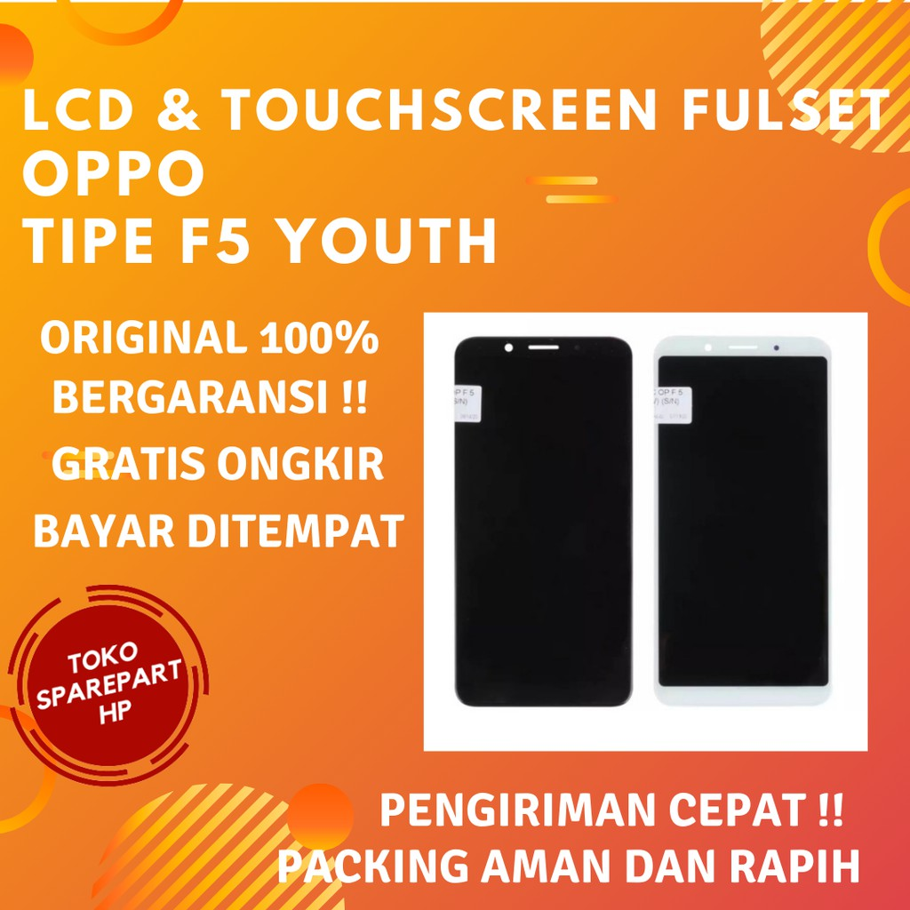 Lcd Oppo F5 Youth Original Fullset Lcd Screen + Touchscreen Oppo F5 Youth Ori Full set