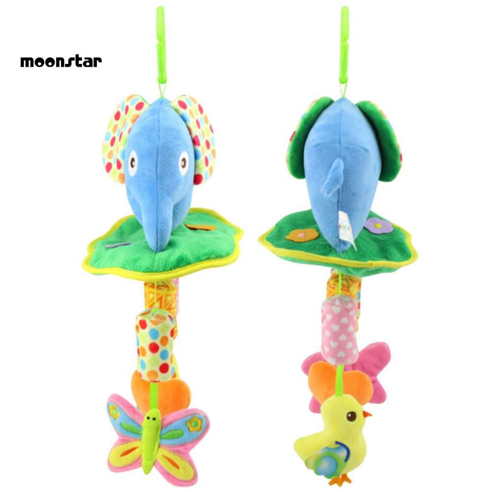 Infant Softes Bed Rattles Plush Animal Baby Stroller Music Hanging Bell Toy Doll