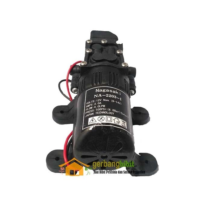Pompa Air Diaphragm Tekanan Tinggi 12V DC 3.5L / min 0.48mp 2A | Shopee Indonesia