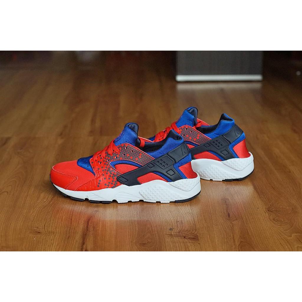 Nike Huarache Run Print GS Pixel Red / Blue / White