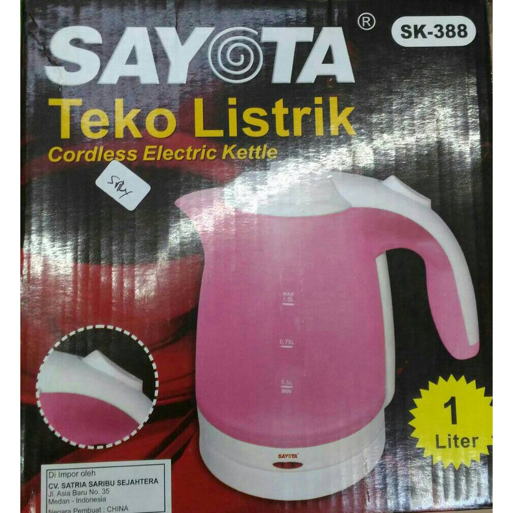 Sayota Sk 368 12 Liter Electric Kettle Ketel Teko Listrik Pemanas Air Electrik 15 Elektrik Thermo Pot Stainless Steel Source Q2