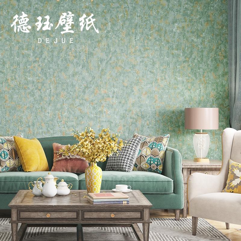 Ready Stock Retro Nostalgic Luxury American Wallpaper Dark Green