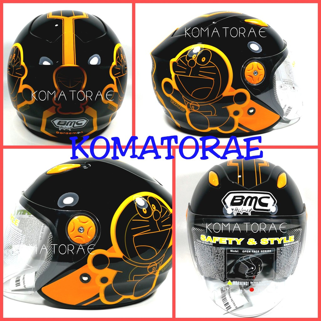 Helm Cargloss Yr Ghotic Half Face Deep Black Shopee Indonesia Ycn New Oackley Hitam Size Xl