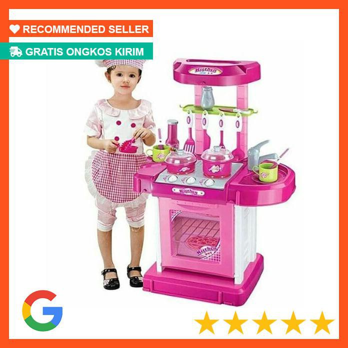 Populer Mainan Edukatif Edukasi Anak Kitchen Set Koper Besar Masak Masakan Shopee Indonesia