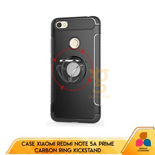 Case Xiaomi Redmi Note 5A Prime Ultimate Carbon Ring Kickstand