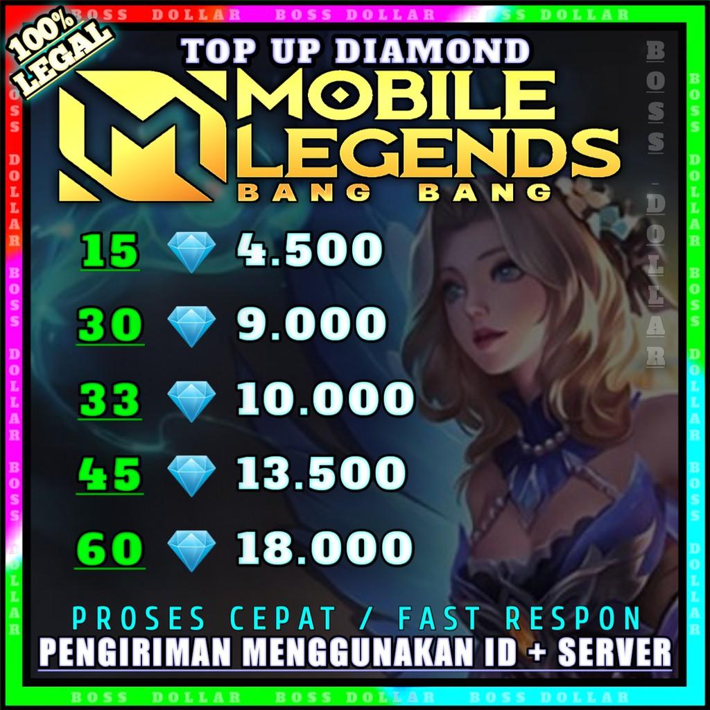 TOP UP DIAMOND MOBILE LEGENDS PALING MURAH  PROMO DM ML #R1