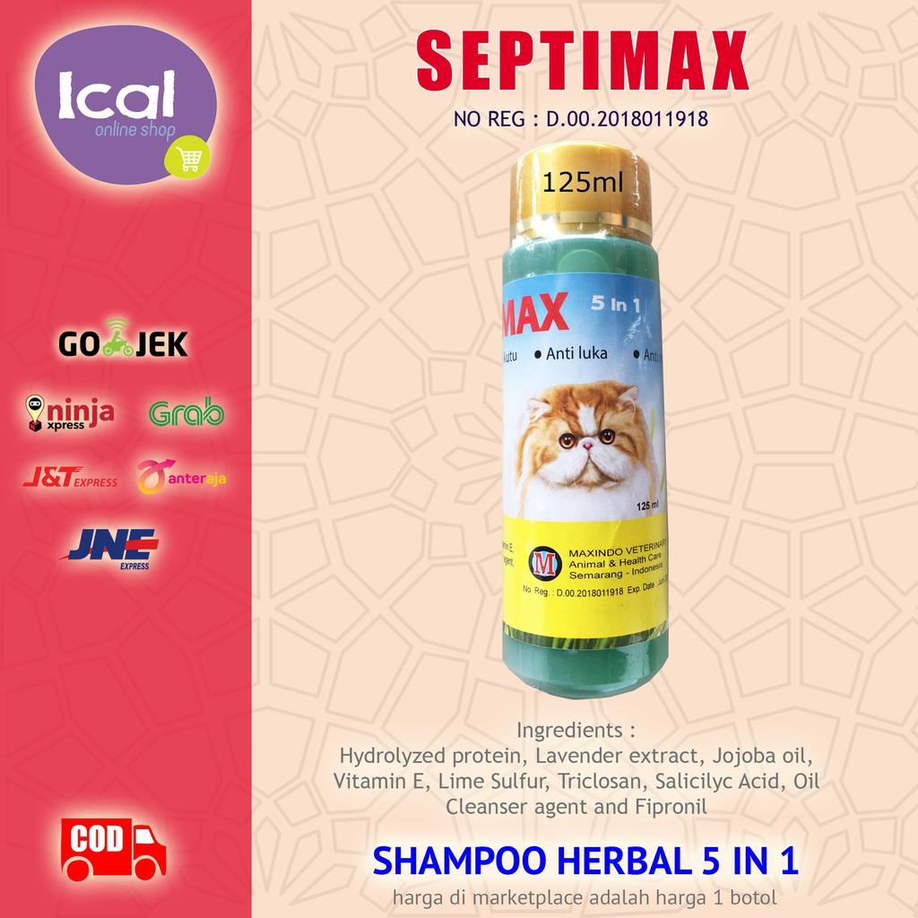 Sampo Kucing Septimax Shampoo Herbal 5 In 1 Anti Kutu Anti Lepek-3