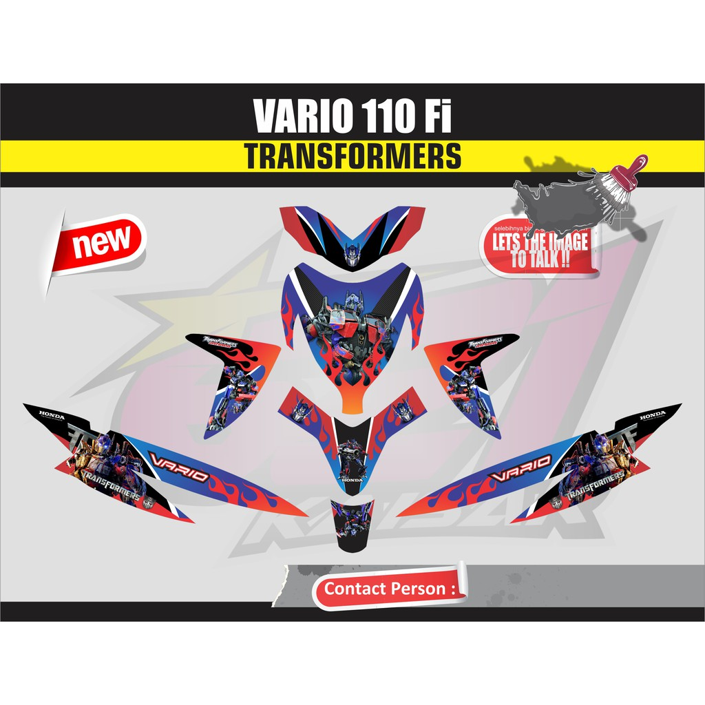 Sticker striping sticker motor vario 150 125 esp biru qlty a hiu shopee indonesia