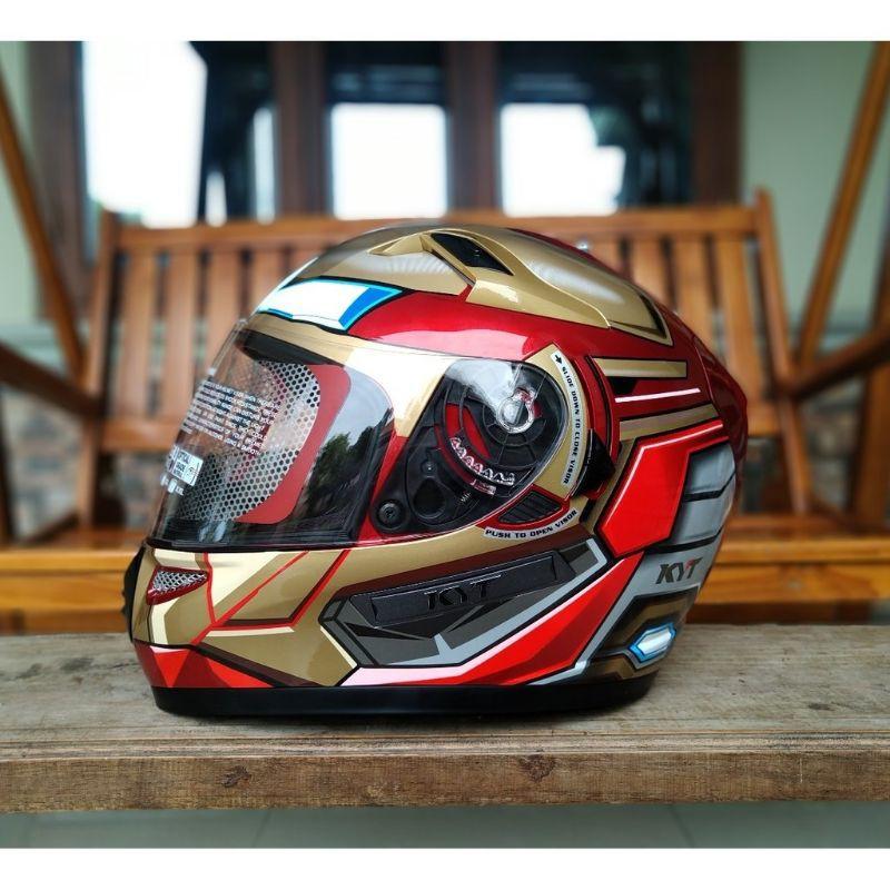 KYT K2 RIDER IRON MAN RED GOLD   Helm Full Face   k2 rider marvell   Helm kyt k2 rider iron man