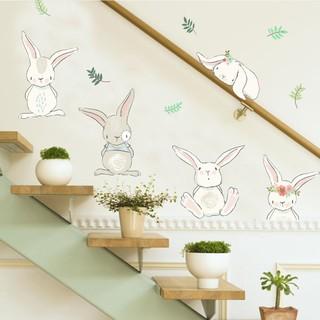... Stiker Dinding dengan Bahan Mudah Dilepas dan Gambar Kelinci untuk Dekorasi Kamar Anak. suka: 11