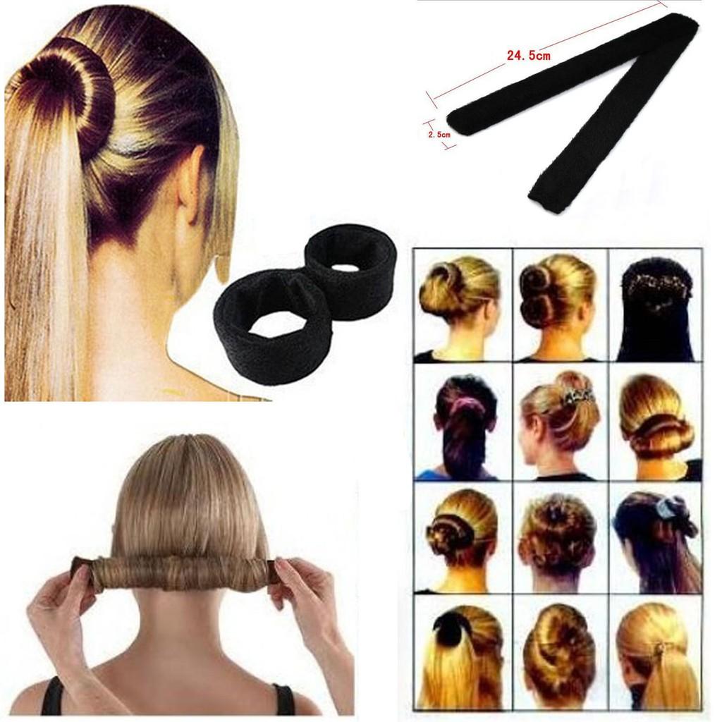 1pc Womens Hair Bun Updo Wrap Snap Fold DIY Hair Accessory Styling Tool