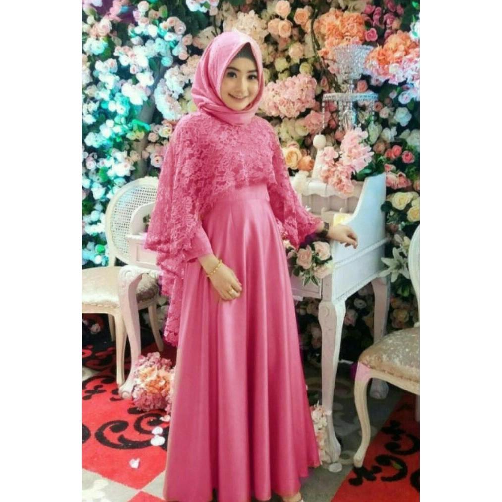 Grosir Bisa Ecer Gamis Brukat Bumil Baju Hamil Kebaya Umroh Haji Maxi Dress Muslim