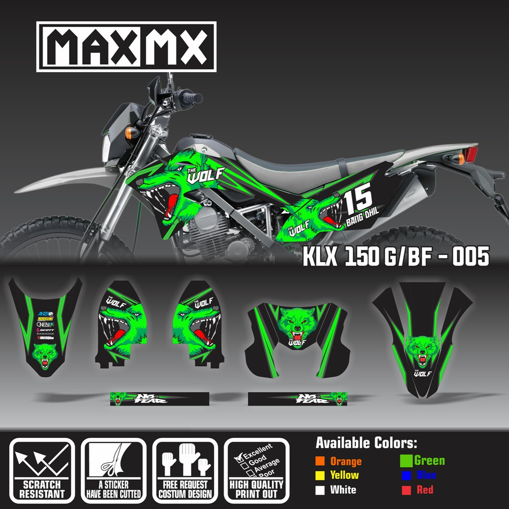 Decal stiker klx 150 bf dekal sticker striping fox custom full body klx 150 g bf 057 shopee indonesia