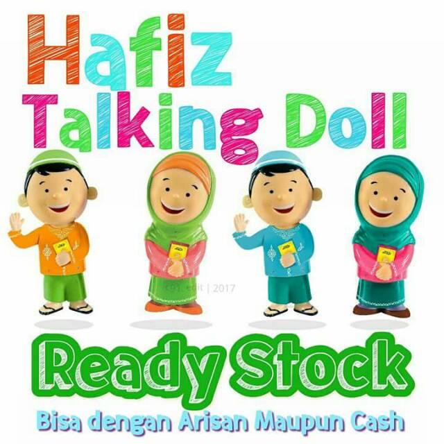 (BERAT 1KG)HAFIZ / HAFIZAH TALKING DOLL / BONEKA HAFIZAH DOLL/New hafiz