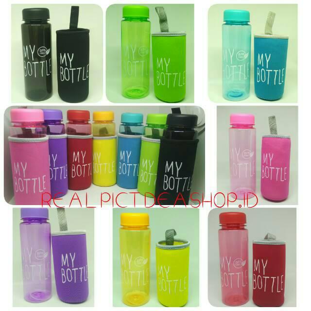 My Bottle Warna Gloss Edisi Baru Logo BPA FREE + POUCH BUSA +FREE BUBBLE WARP