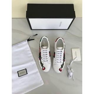 b6663575ff9 Sepatu Gucci Sneaker Ace Embroidered Floral PUTIH Mirror 2018 ...