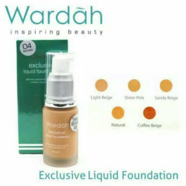 Wardah Exclusive Liquid Foundation SPF 30 | Shopee Indonesia