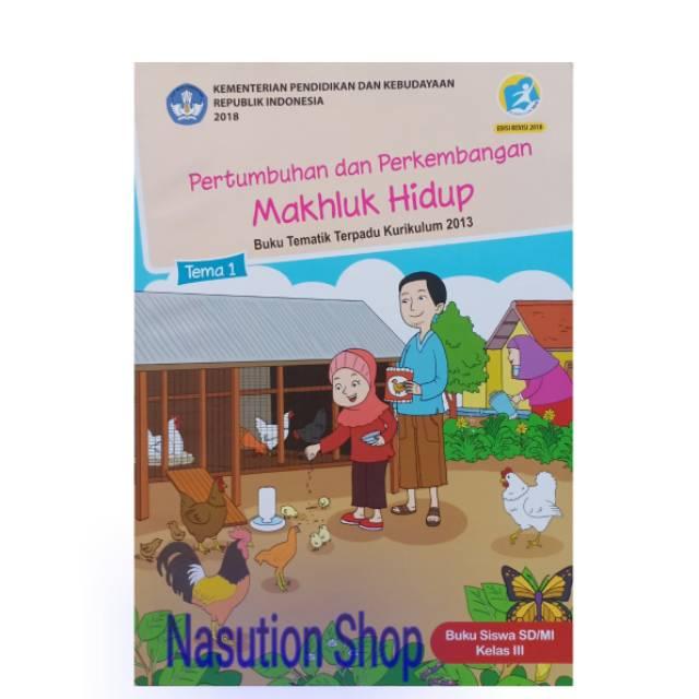 Buku Tema 1 Kelas 3 Sd Kemendikbud Shopee Indonesia