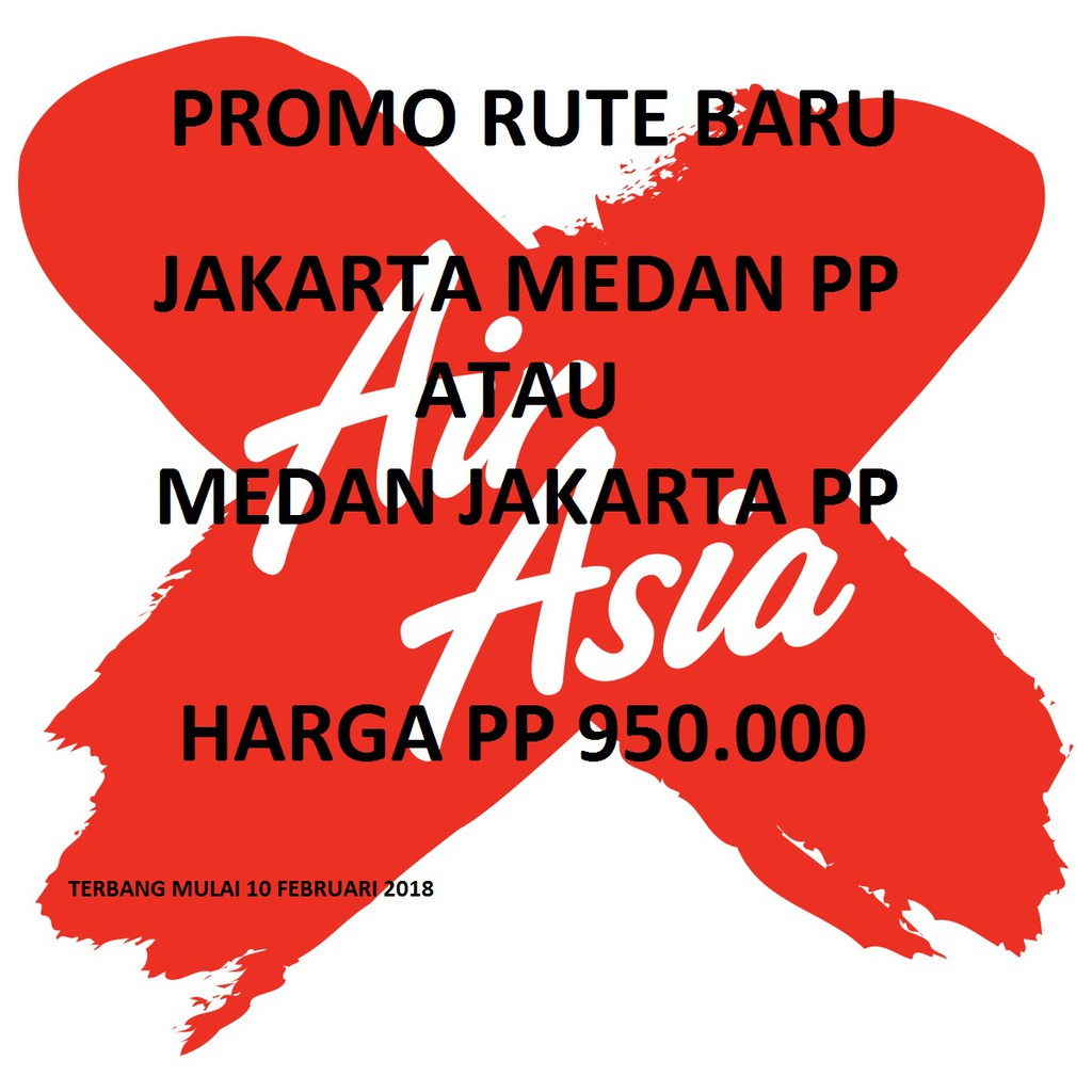 Tiket Promo Air Asia Jakarta Medan Pulang Pergi Shopee Indonesia