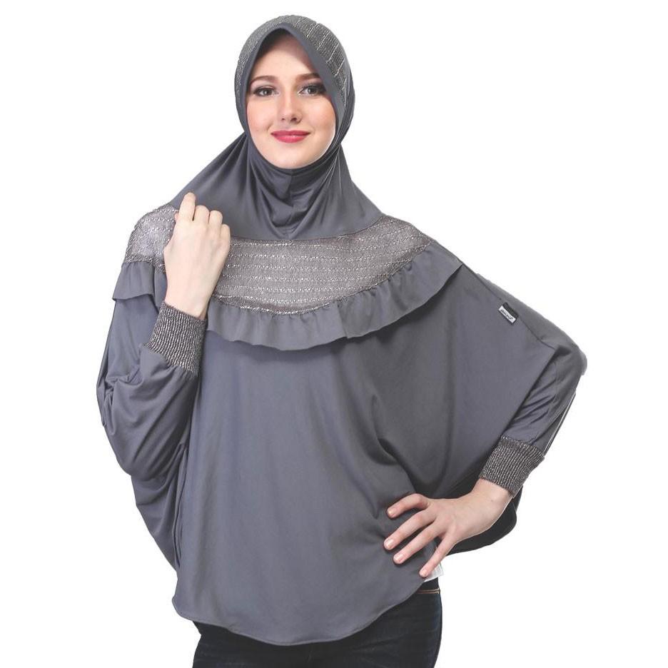 Kerudung Jilbab Hijab Instan Bergo Lengan Remaja Dewasa Terbaru Spandek Warna Abu Sop 707 Il Shopee Indonesia