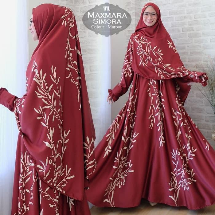 [Syari Maxmara Adiva Black TL] gamis muslim wanita maxmara hitam | Shopee Indonesia