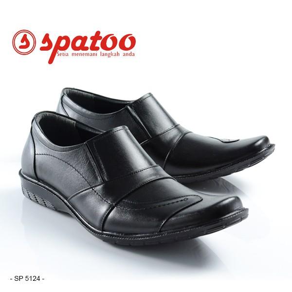 Jual Sepatu Kulit Pantofel PDH Kantor Pria Kerja Formal Original Spatoo  Warna Hitam KODE SP 5124. Ke Toko 205c23a2e6