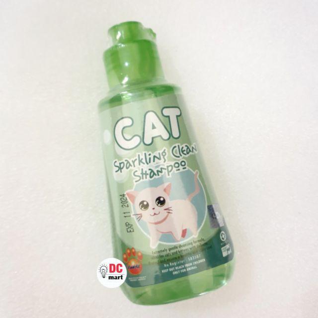 SPARKLING CLEAN CAT Shampo Hewan 150mL / Shampoo anjing kucing musang kelinci RAID ALL-Sparkling Green