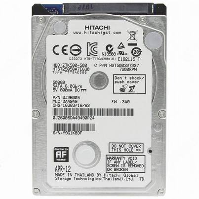 "Harddisk Internal HGST Hitachi 2,5"" 1TB 7200Rpm"