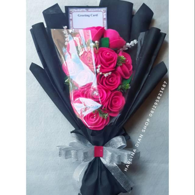 Buket Bunga Cantik Manis Mewah Untuk Kado Wisuda Anniv Ultah