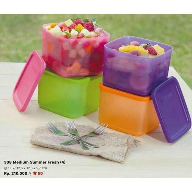 Tupperware Small Summer Fresh Wadah Tempat Makan | Shopee Indonesia
