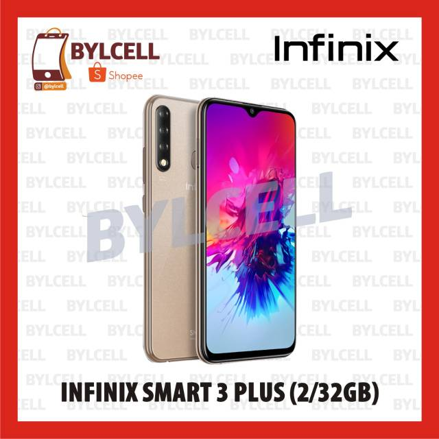 Infinix Smart 3 Plus 2 32 Gb Resmi Warna Random Shopee Indonesia