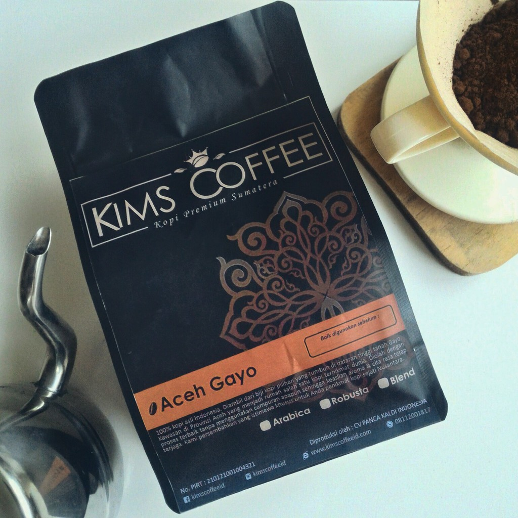 Grade 1 Arabika Biji Roasted Aceh Gayo Kims Coffee Otten Arabica Kerinci Kayo Sungai Penuh Natural Process 200g Bubuk Kopi