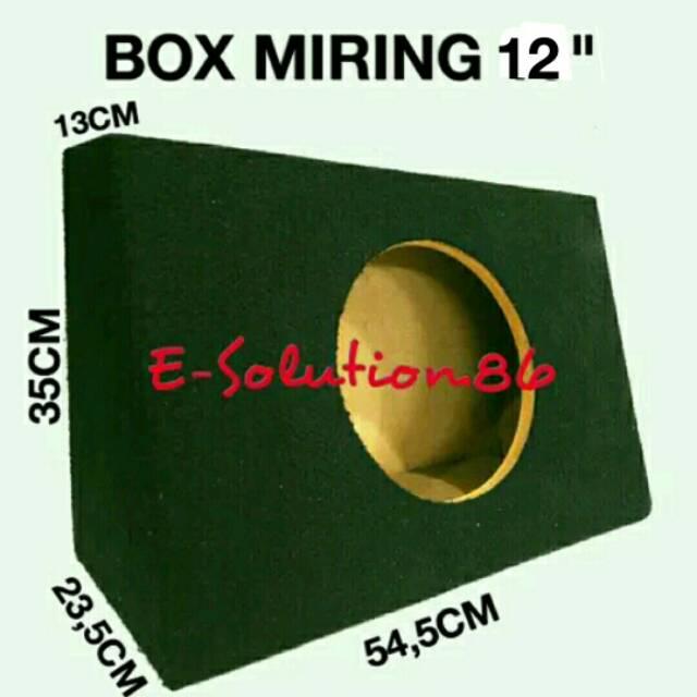 "Box Subwoofer Miring 12"" Box Audio Sound Mobil 12 inch, Box Salon Box Speaker Bulat Box Speker Mobil"