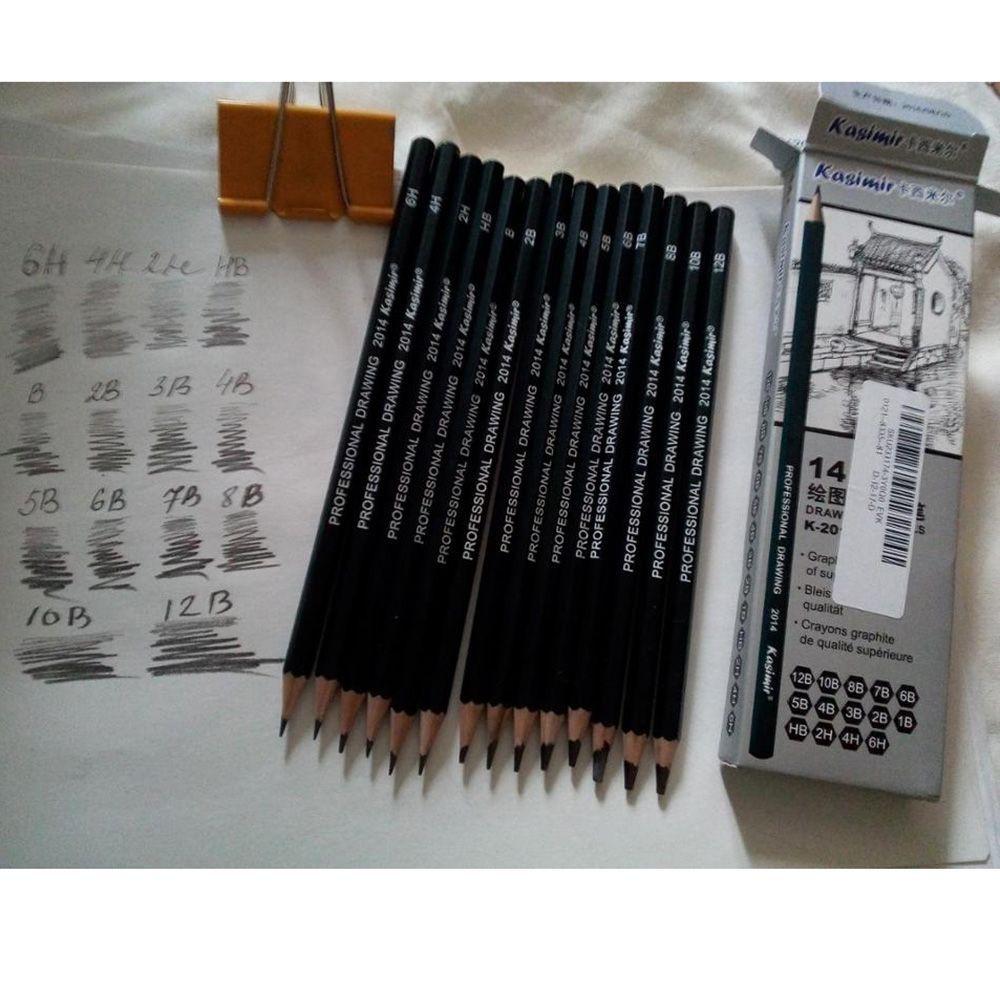 14pcs set pensil serut 3b 6h 4h 2h hb 1b 2b 4b 5b 6b 7b 8b 10b 12b untuk gambar sketsa