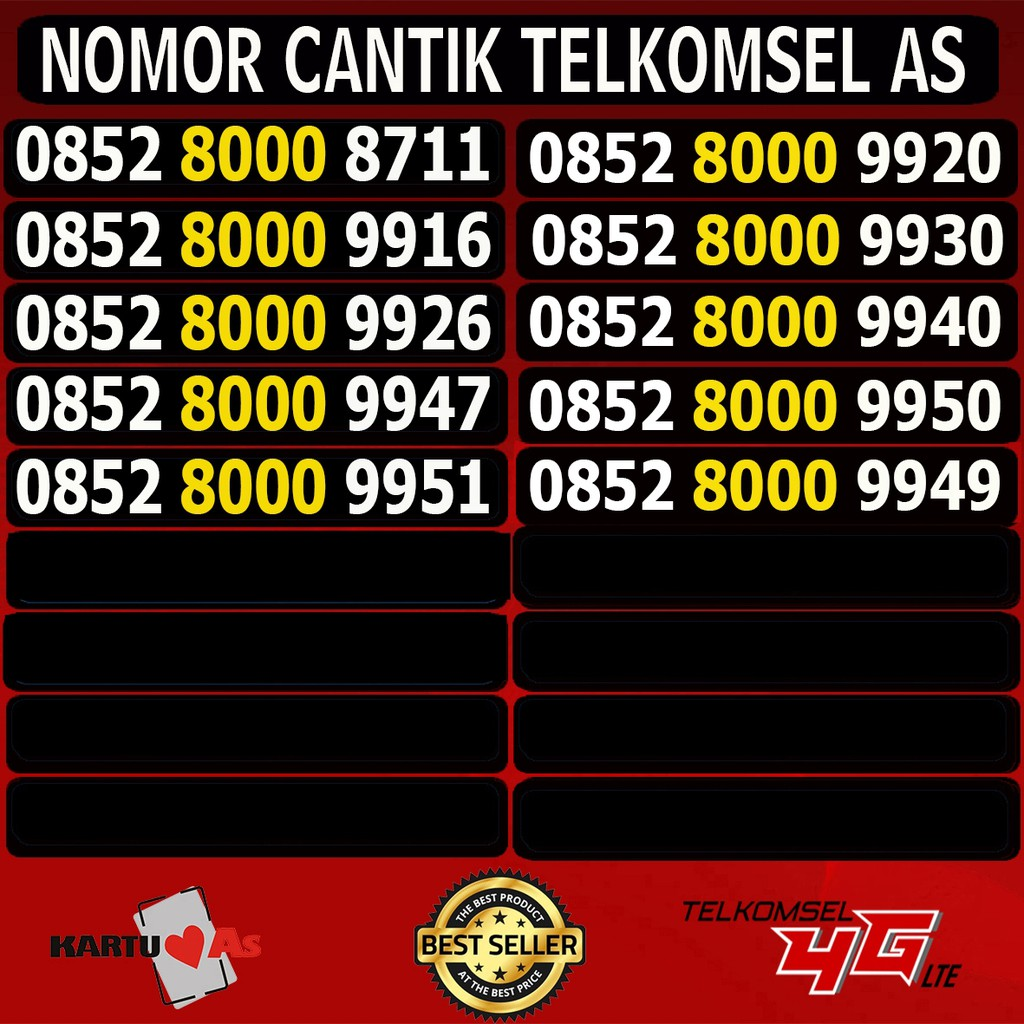Obral Nomor Cantik Simpati Termurah (Nocan,Kartu Perdana,Telkomsel) 88888   Shopee Indonesia