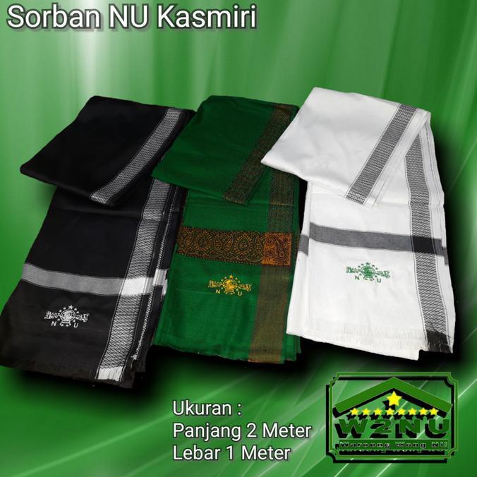 produk ibadah terlaris sorban kashmiri cream / kashmiri / rida / surban habib persegi gratis ongkir