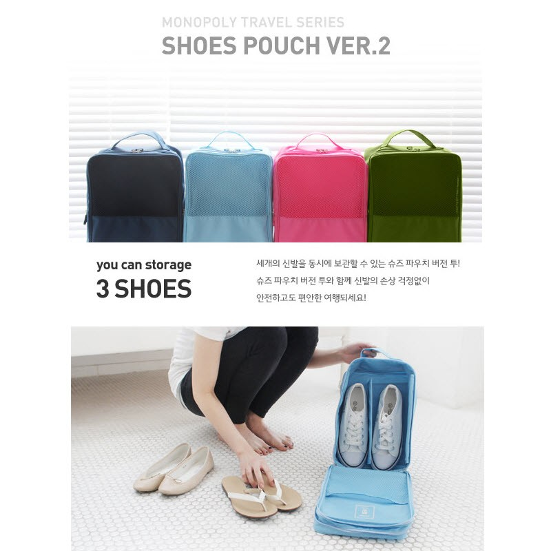 Waterproof Korean Style Shoes Pouch / Tas Sepatu travel organizer | Shopee Indonesia