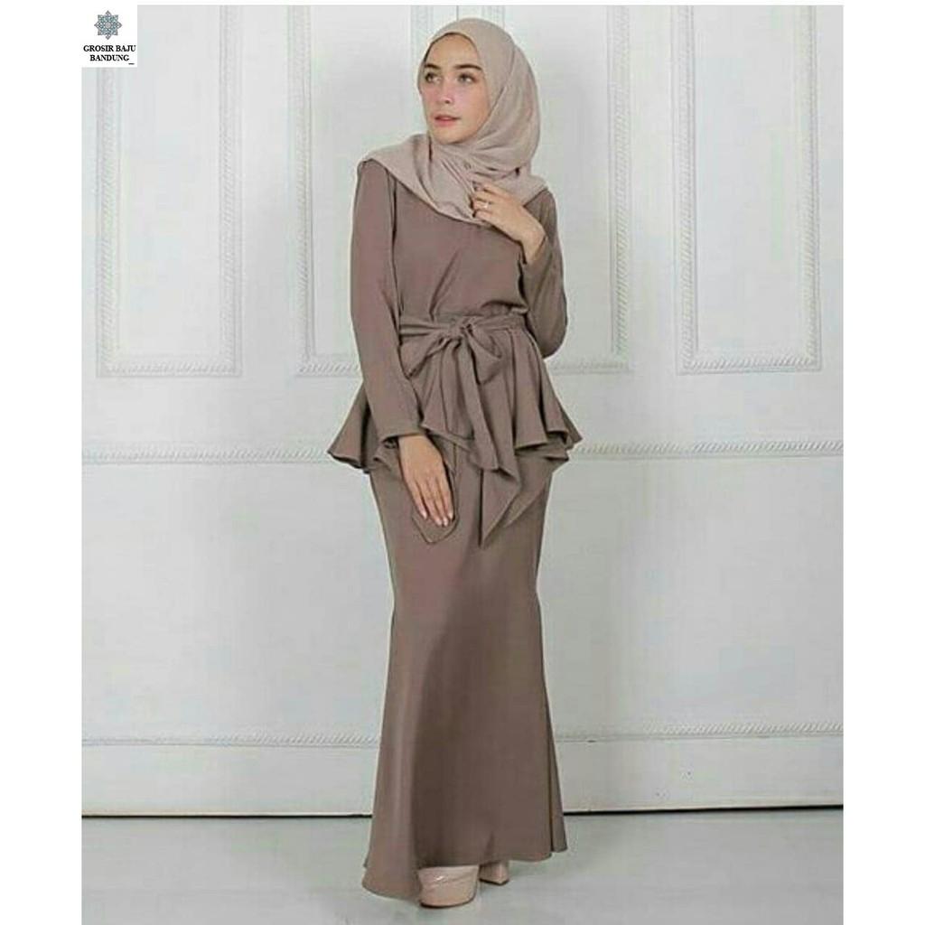 Dapatkan Harga Jilbab Rok Fashion Muslim Atasan Diskon Blouse Wanita Samantha Dress  Baju Shopee Indonesia