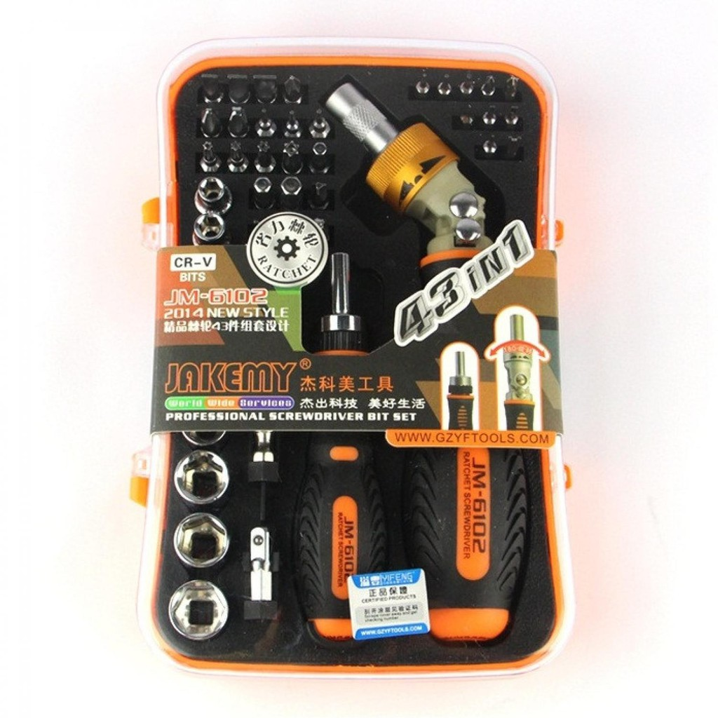 Air Conditioning Tools >> Jakemy 43 In 1 Air Conditioning Tool Kit Jm 6102 Jmot11xx