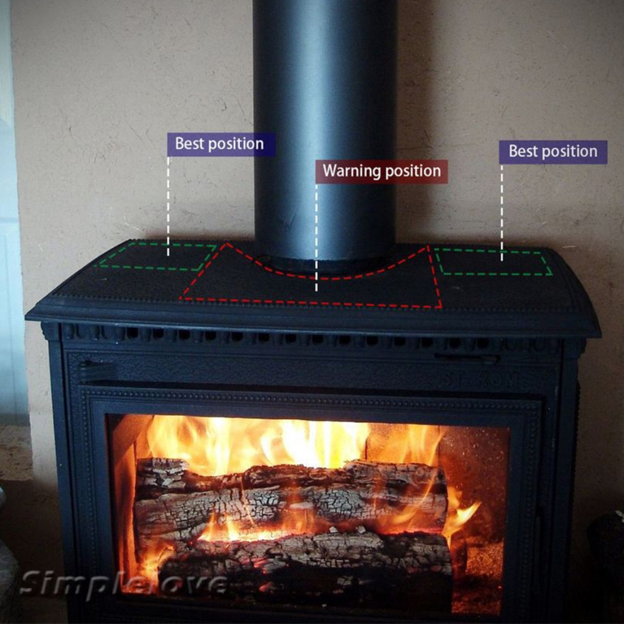 Heat Powered Stove Fan Wood Logs Burner Fireplace 2 Quiet Airflow Fan Shopee Indonesia