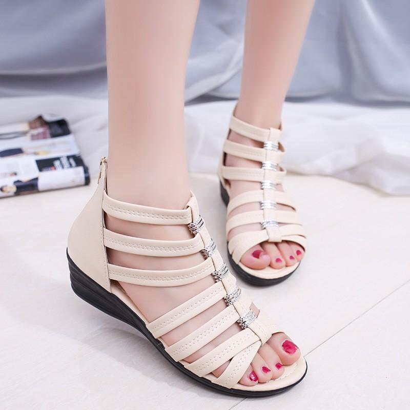 Sandal Sepatu Flat Gaya Roma/Hong Kong Warna Hitam/Hijau untuk Wanita | Shopee