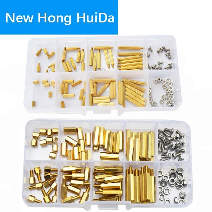Male M3 Plastic Spacer Pillars Nylon FREE Nut Hexagonal Standoff Hex White
