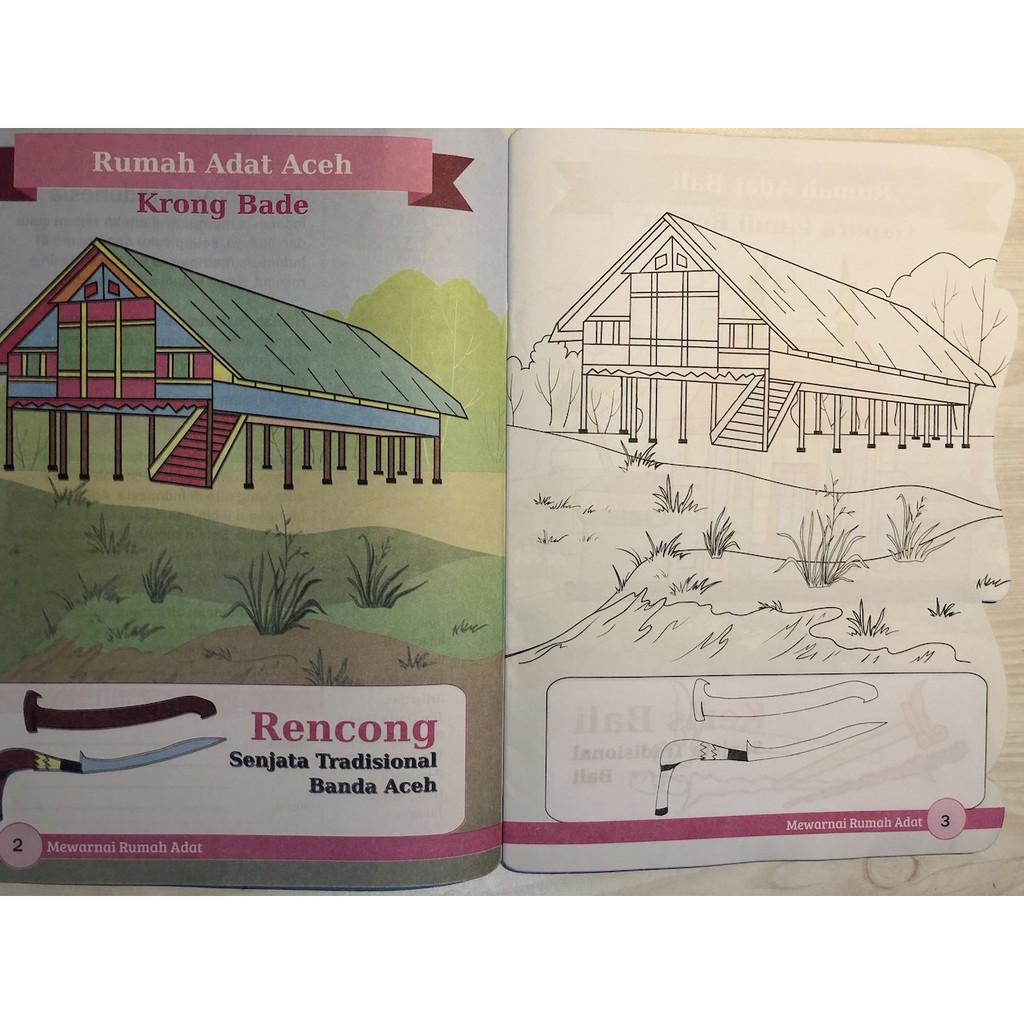 Buku Mewarnai Rumah Adat