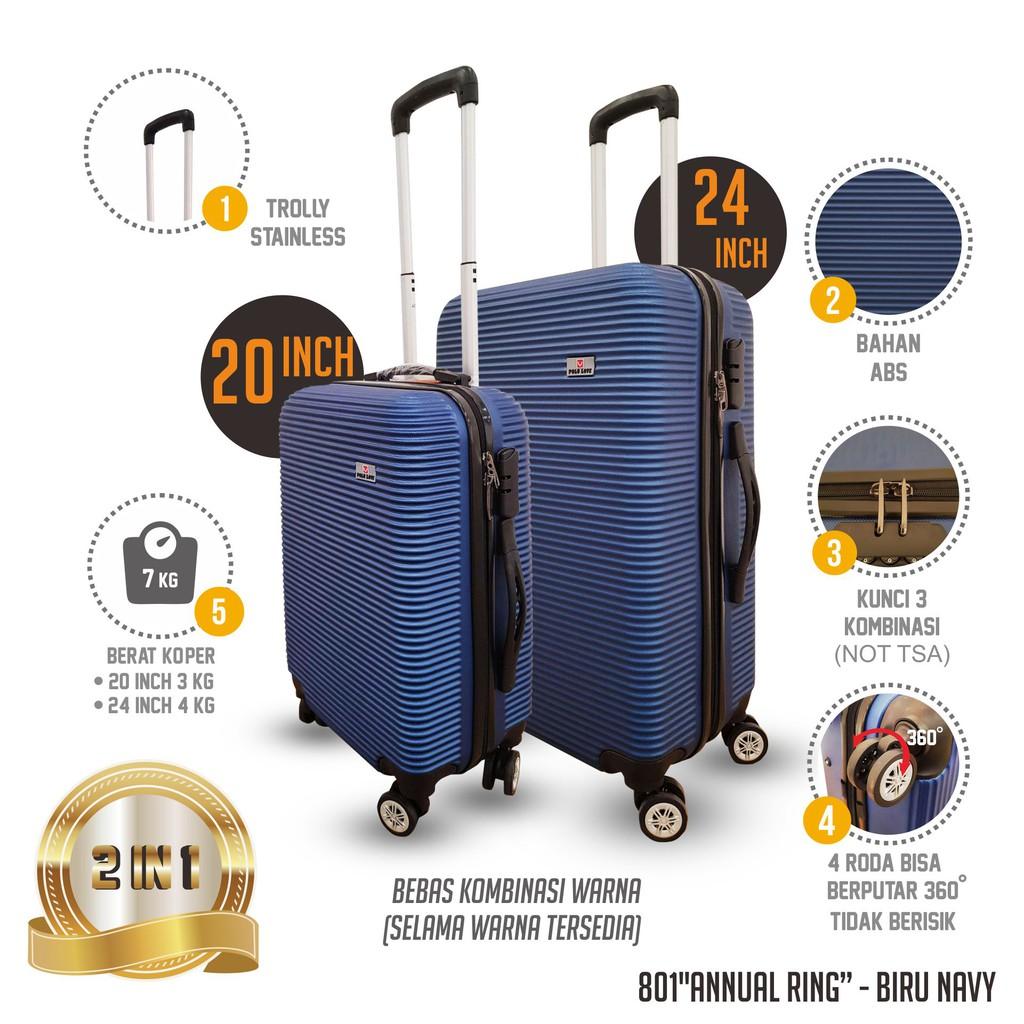 Koper Murah Polo Love Model Annual Ring 24 Inch Roda 4 Bahan ABS Fiber, koper, murah, koper travel   Shopee Indonesia