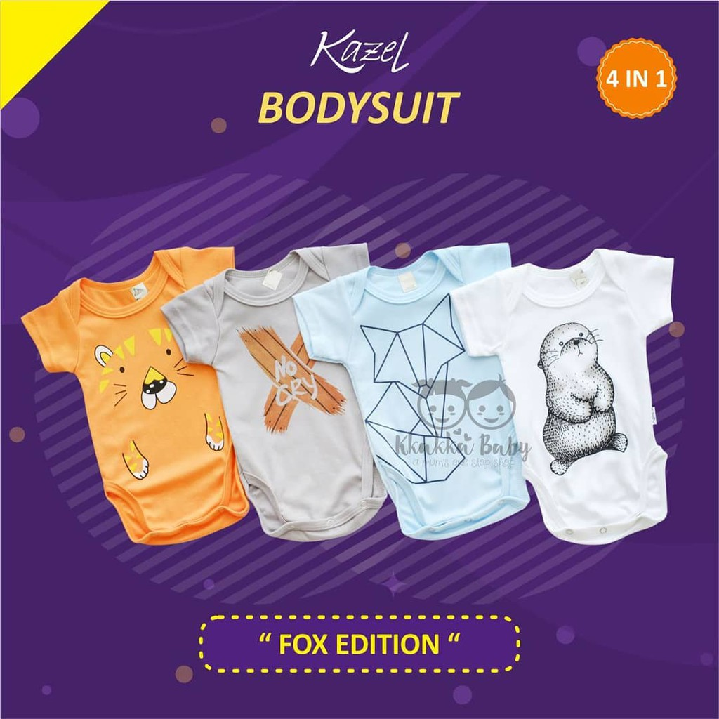 Kazel Bodysuit / Jumper Fox 4in1 Jumper Bayi Modern Boy cherrybabykidsshop | Shopee Indonesia