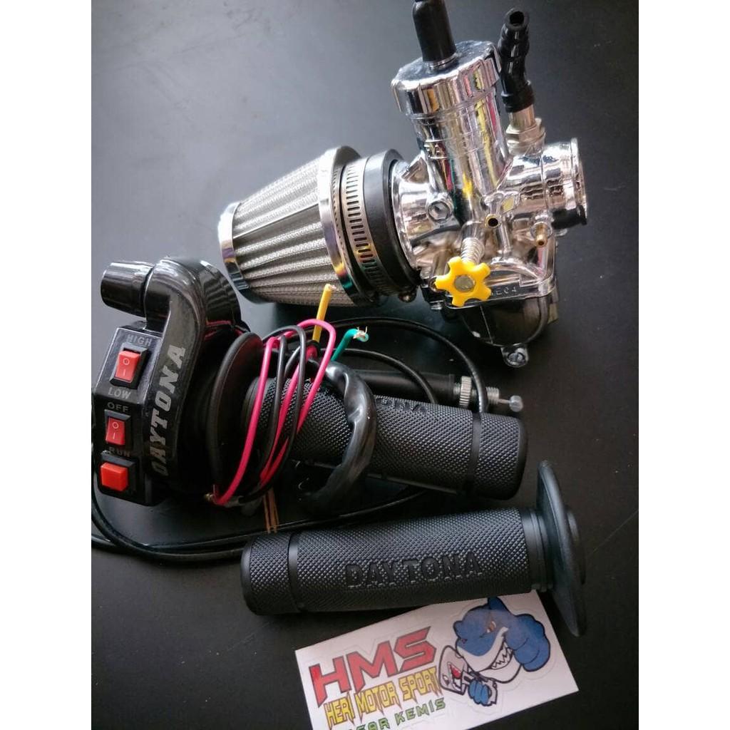 Paket Murah Karburator Nsr Pe28 Crum Panom Gas Spontan Tombol Dan Bungbon Polos Filter Karbu Shopee Indonesia